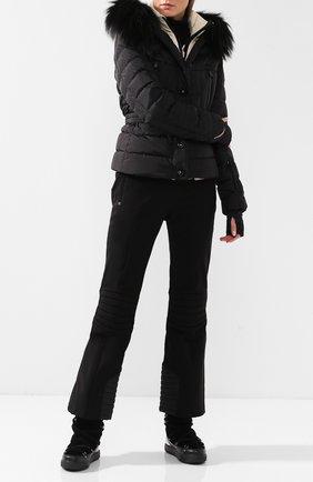 Женский пуховик с поясом MONCLER GRENOBLE черного цвета, арт. D2-098-45311-26-5399E | Фото 2