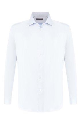 Мужская хлопковая сорочка с воротником кент CORNELIANI голубого цвета, арт. 82P150-8811211/00 | Фото 1