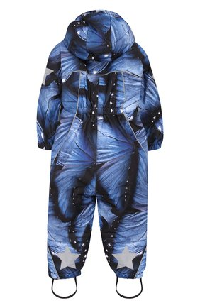Детский комбинезон pyxis со штрипками и капюшоном MOLO синего цвета, арт. 5W18N101 | Фото 2