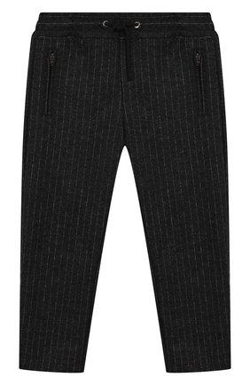 Шерстяные брюки с поясом на кулиске | Фото №1