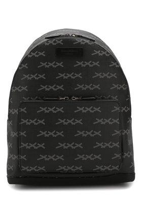 Рюкзак с отделкой из кожи   Фото №1