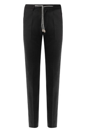 Шерстяные брюки прямого кроя на кулиске | Фото №1
