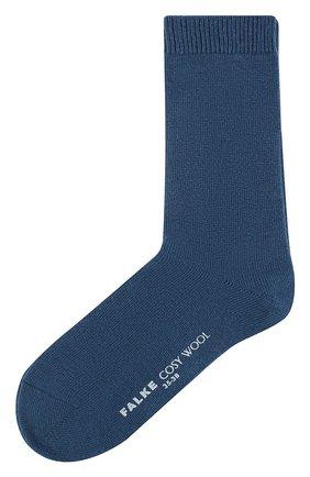Женские вязаные носки cosy wool FALKE синего цвета, арт. 47548_18_ | Фото 1