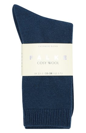 Женские вязаные носки cosy wool FALKE синего цвета, арт. 47548_18_ | Фото 2