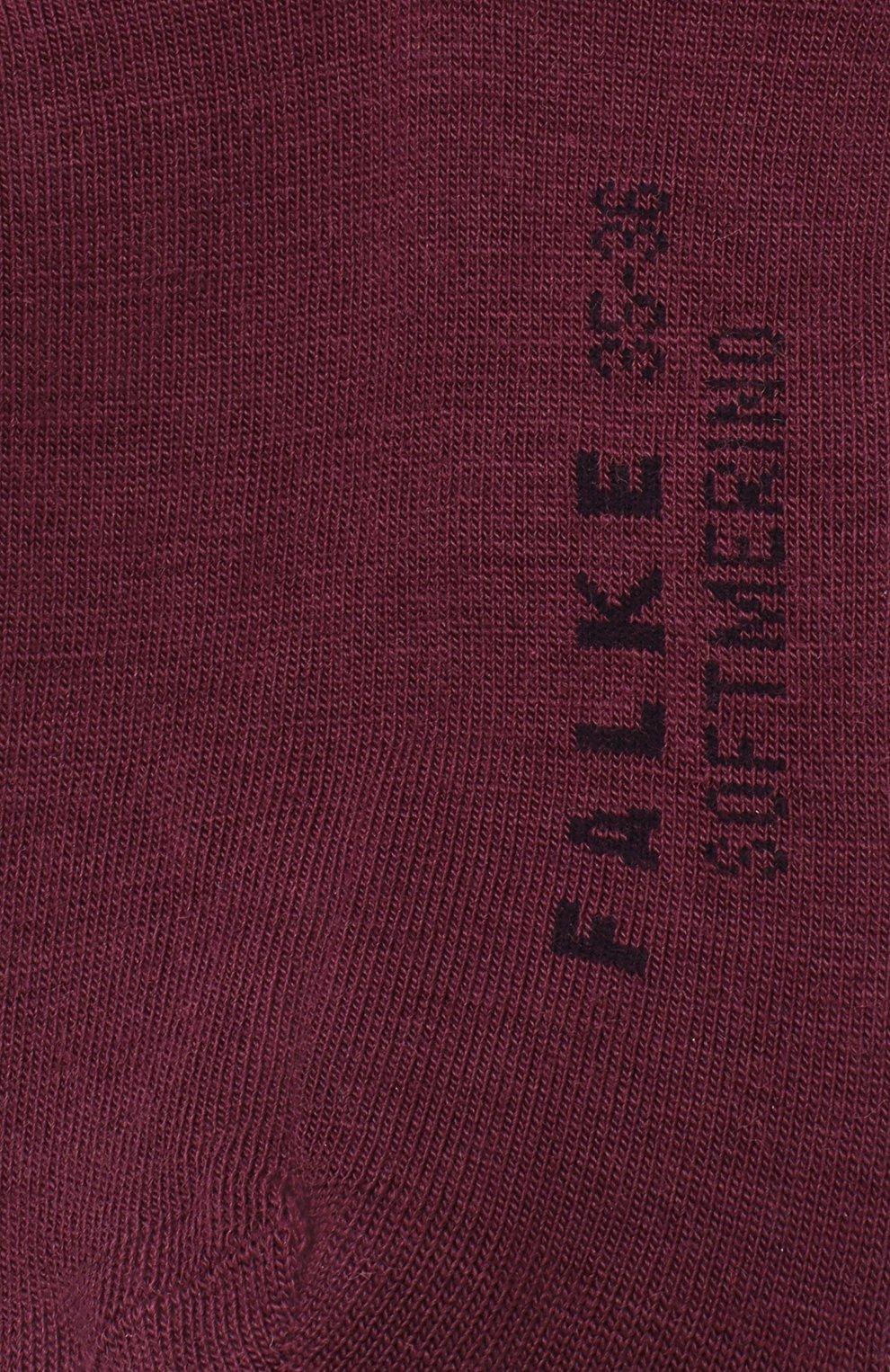 Женские носки softmerino из смеси шерсти и хлопка FALKE бордового цвета, арт. 47488_18_   Фото 3
