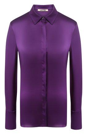 Однотонная блуза из шелка | Фото №1