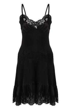 Шелковое платье с кружевной отделкой | Фото №1