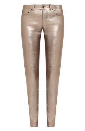 Кожаные брюки прямого кроя | Фото №1