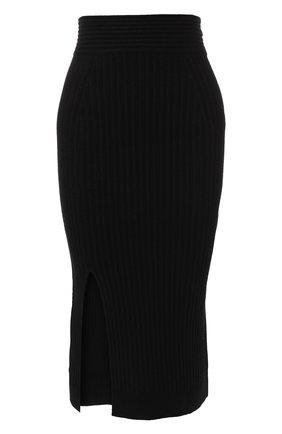 Вязаная юбка-карандаш с разрезом | Фото №1