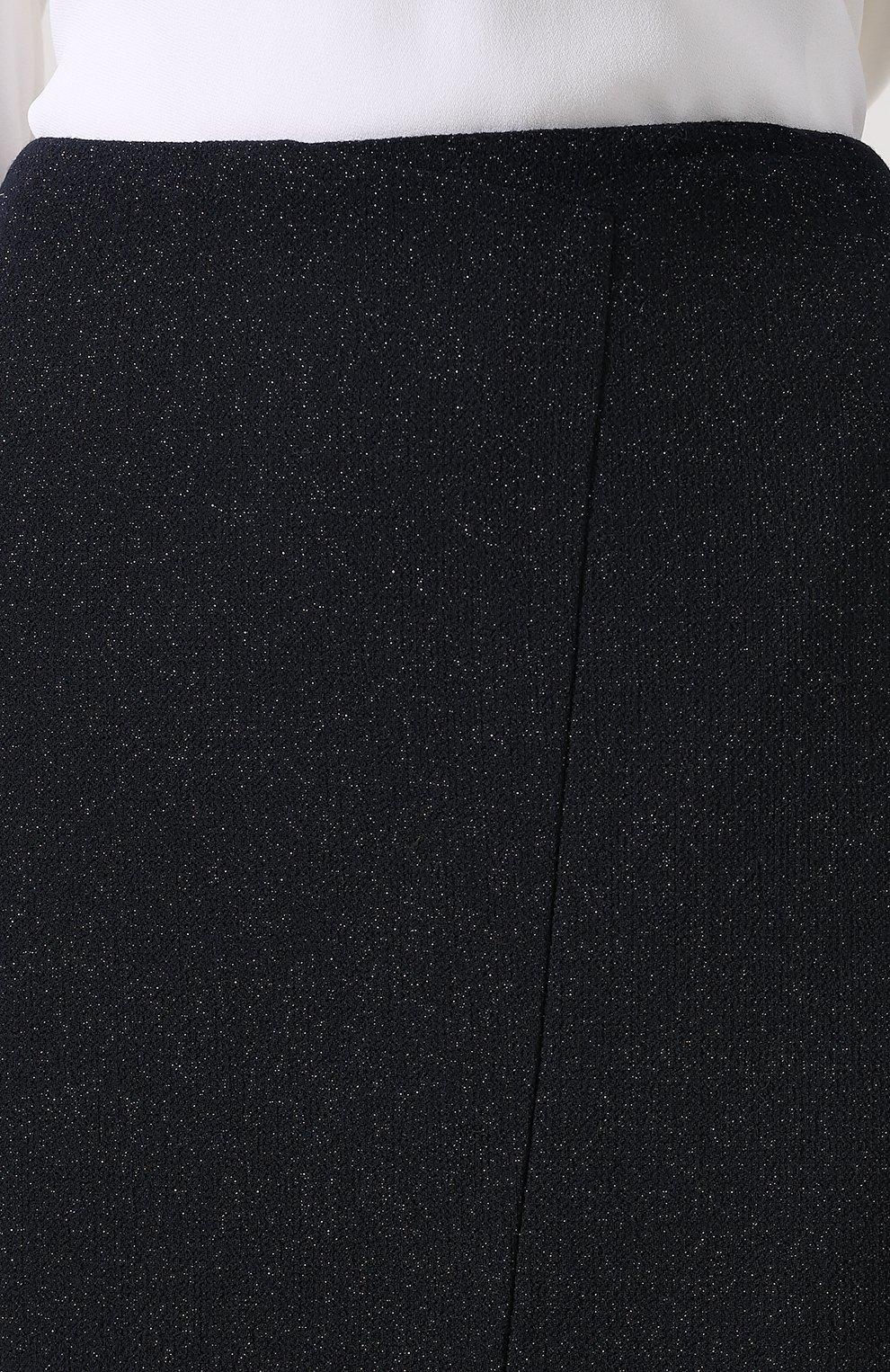 Шерстяная юбка с высоким разрезом | Фото №5