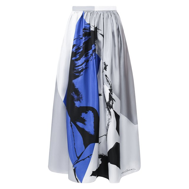 Шелковая юбка-миди с принтом Giorgio Armani