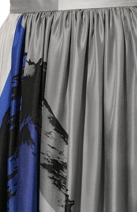 Шелковая юбка-миди с принтом | Фото №5