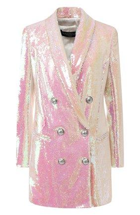 Двубортное мини-платье с пайетками | Фото №1