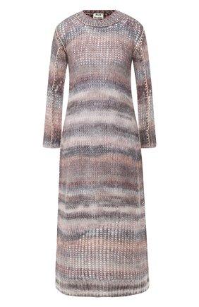 Вязаное платье с круглым вырезом | Фото №1