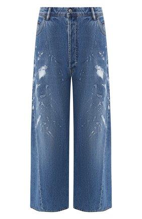 Укороченные джинсы свободного кроя | Фото №1