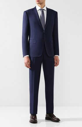 Мужской шерстяной костюм с пиджаком на двух пуговицах CORNELIANI темно-синего цвета, арт. 827315C8817087/92 Q1   Фото 1