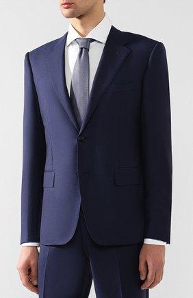 Мужской шерстяной костюм с пиджаком на двух пуговицах CORNELIANI темно-синего цвета, арт. 827315C8817087/92 Q1   Фото 2