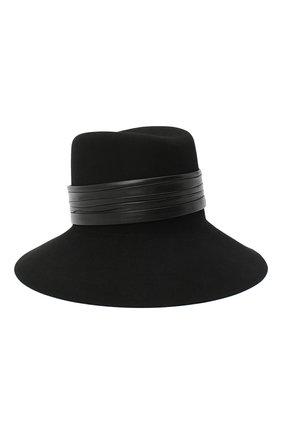 Фетровая шляпа с кожаной лентой | Фото №1