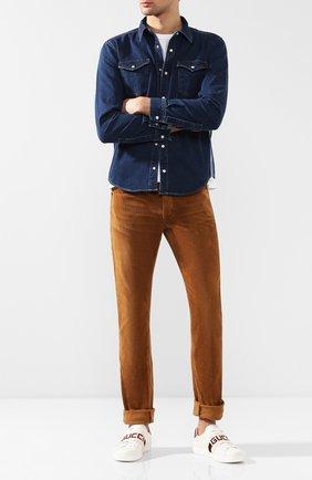Мужские кожаные кеды GUCCI белого цвета, арт. 523469/0FIV0 | Фото 2