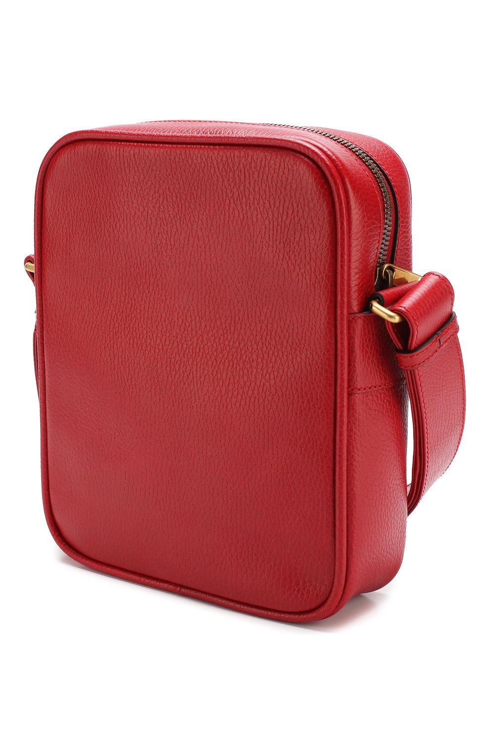 2eb5ca6d78fd Мужская красная кожаная сумка-планшет с логотипом бренда GUCCI ...