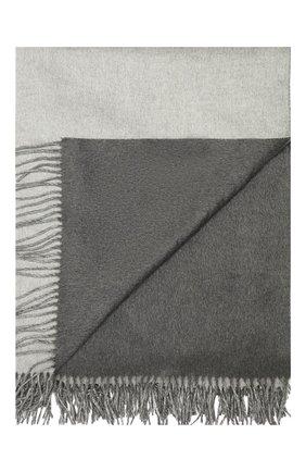 Мужского шелковый плед BRUNELLO CUCINELLI светло-серого цвета, арт. MPAG90133 | Фото 1