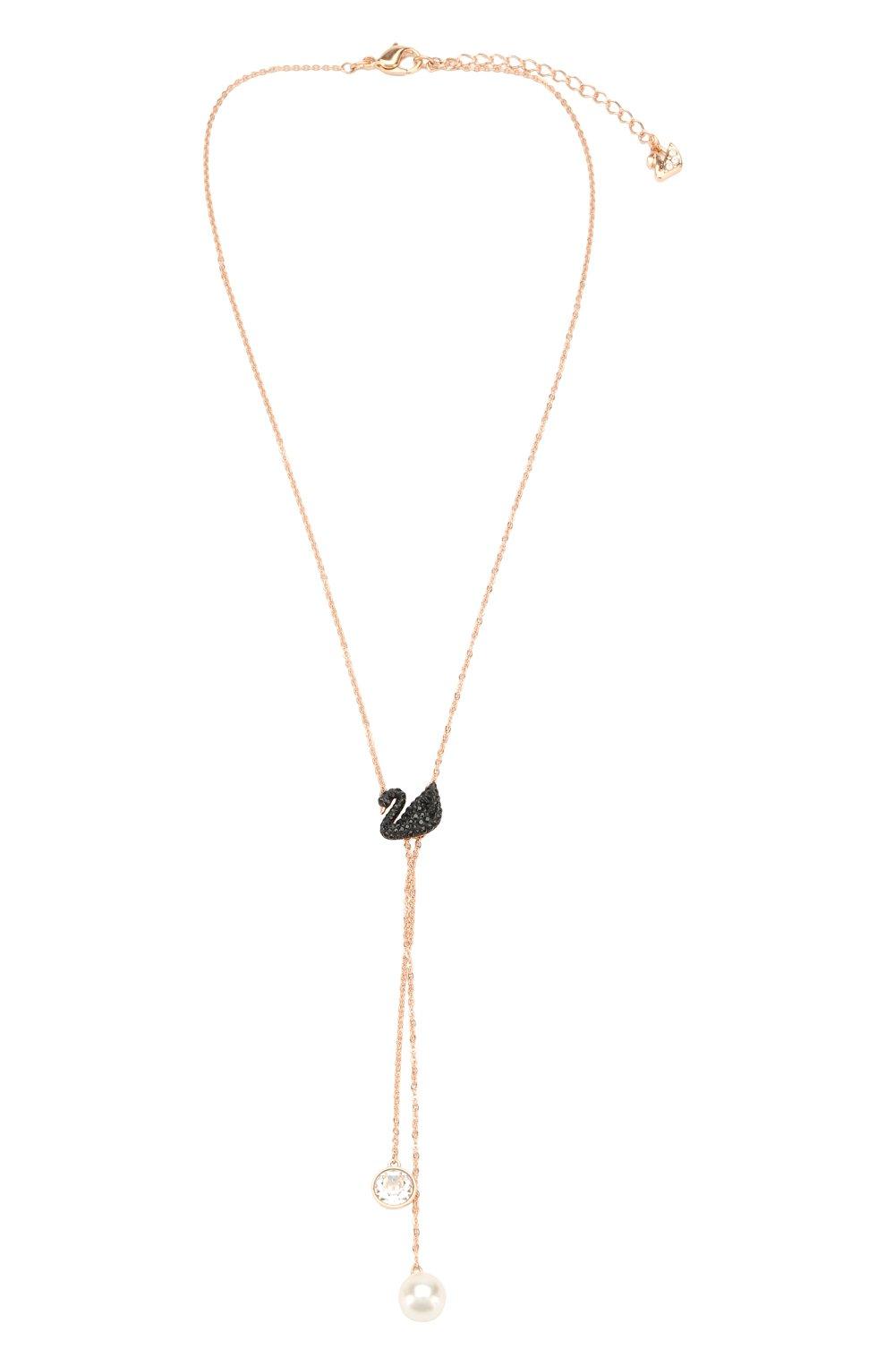 Женское ожерелье iconic swan double y SWAROVSKI золотого цвета, арт. 5351806 | Фото 1