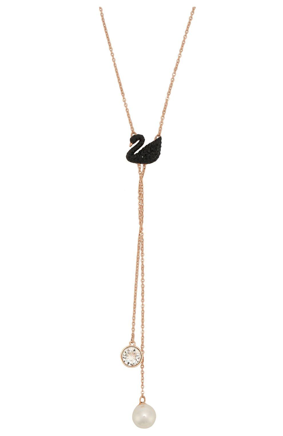 Женское ожерелье iconic swan double y SWAROVSKI золотого цвета, арт. 5351806 | Фото 2
