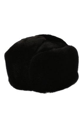 Мужская шапка-ушанка из меха норки KUSSENKOVV черного цвета, арт. 332800002158 | Фото 1