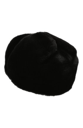 Мужская шапка-ушанка из меха норки KUSSENKOVV черного цвета, арт. 332800002158 | Фото 2