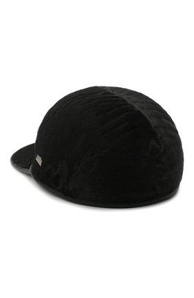 Мужской меховая бейсболка KUSSENKOVV черного цвета, арт. 387100002001 | Фото 2