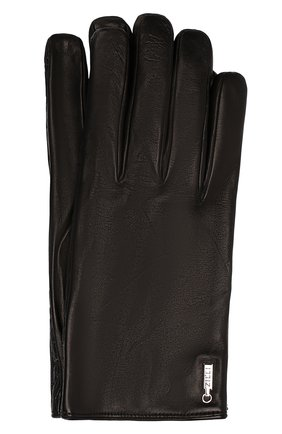 Мужские кожаные перчатки ZILLI черного цвета, арт. 616GANTM140AG-CR0/C/CLAT | Фото 1