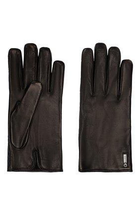 Мужские кожаные перчатки ZILLI черного цвета, арт. 616GANTM140AG-CR0/C/CLAT | Фото 2
