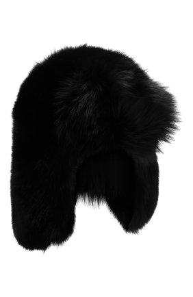 Мужская меховая шапка-ушанка SAINT LAURENT черного цвета, арт. 536426/4YB29 | Фото 1