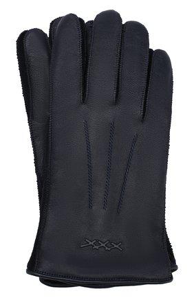 Перчатки из смеси кожи и шерсти | Фото №1