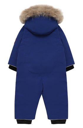 Детский комбинезон с меховой отделкой на капюшоне CANADA GOOSE синего цвета, арт. 2318B | Фото 2