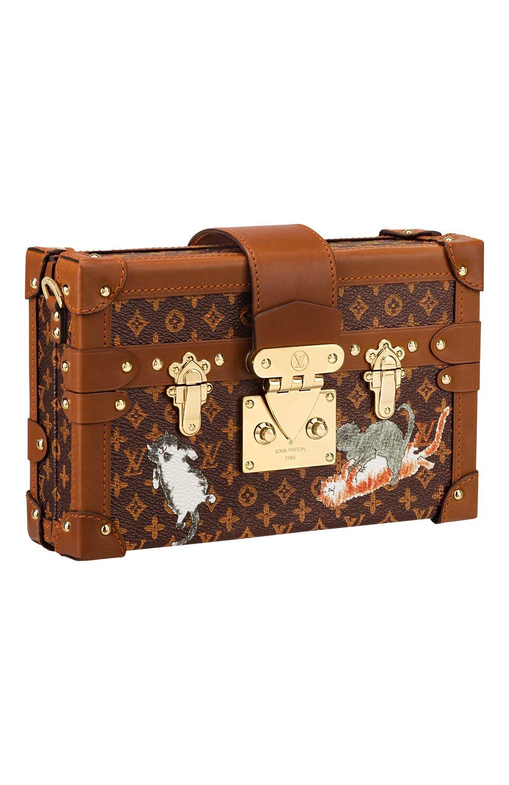 a961d821b119 Женская сумка petite malle с принтом catogram LOUIS VUITTON ...