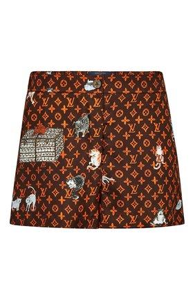 Шелковые шорты с принтом Catogram | Фото №1