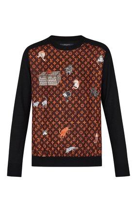 Пуловер с принтом Catogram | Фото №1