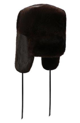 Мужская норковая шапка-ушанка FURLAND коричневого цвета, арт. 0012200110034300146   Фото 2