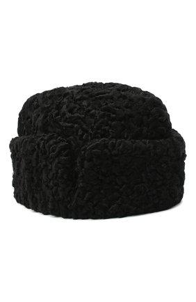 Мужская шапка с отворотом из меха каракульчи FURLAND черного цвета, арт. 0010301510095100000 | Фото 1