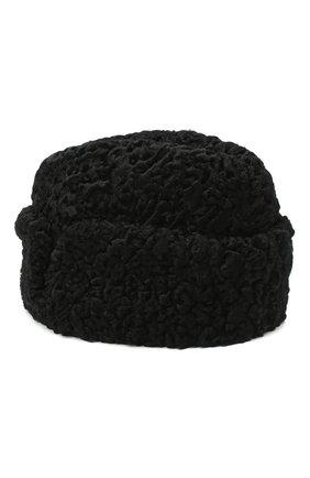 Мужская шапка с отворотом из меха каракульчи FURLAND черного цвета, арт. 0010301510095100000 | Фото 2