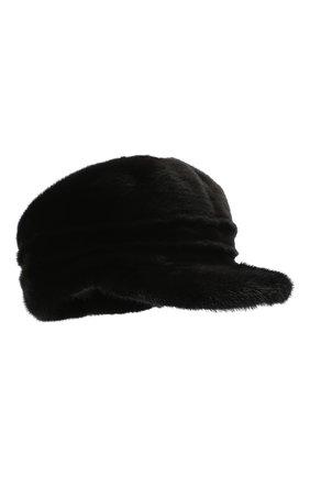 Мужская норковая кепка FURLAND черного цвета, арт. 0076702110137300000   Фото 1
