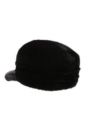 Мужская норковая кепка FURLAND черного цвета, арт. 0076702110137300000   Фото 2