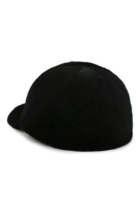 Мужской норковая бейсболка KUSSENKOVV черного цвета, арт. 381510002003 | Фото 2