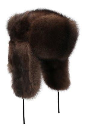Мужская шапка-ушанка из меха соболя KUSSENKOVV коричневого цвета, арт. 333500003126 | Фото 1