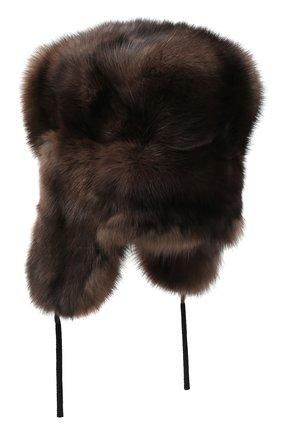 Мужская шапка-ушанка из меха соболя KUSSENKOVV коричневого цвета, арт. 333500003126 | Фото 2