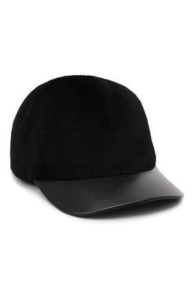 Мужской норковая бейсболка KUSSENKOVV черного цвета, арт. 381518502140 | Фото 1
