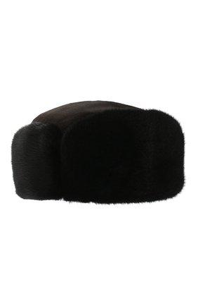 Мужская норковая шапка KUSSENKOVV черного цвета, арт. 411512802059 | Фото 1