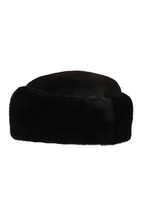 Мужская норковая шапка KUSSENKOVV черного цвета, арт. 411512802059 | Фото 2