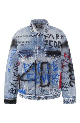 Джинсовая куртка с принтом | Фото №1